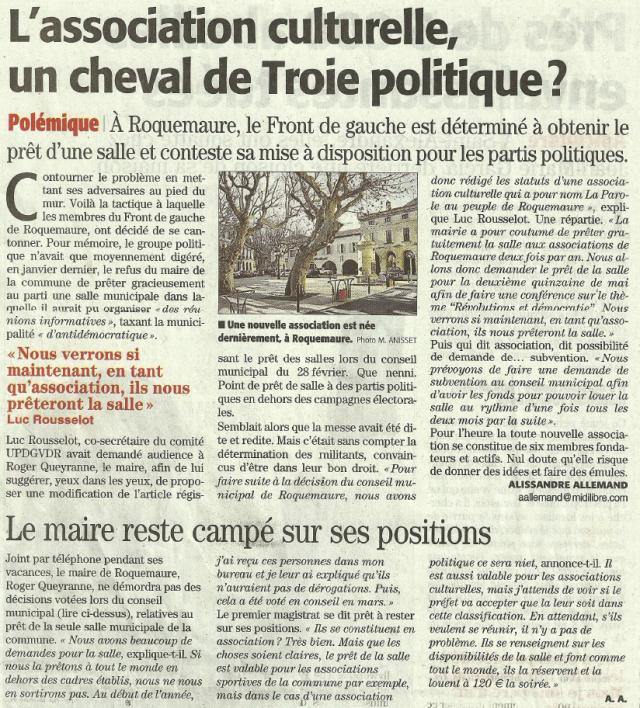 roquemaure association PAPR 28.04 paint