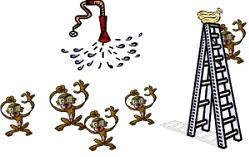 la parabole des 5 singes