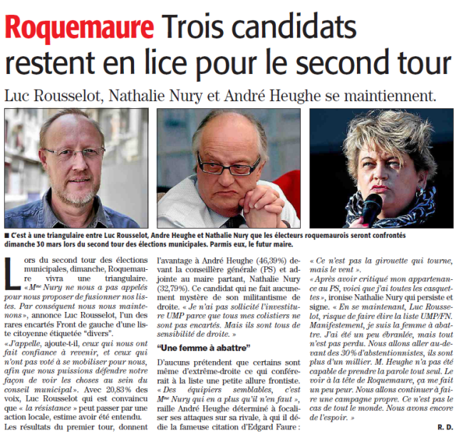 ML du 25.03.14 positions des candidats