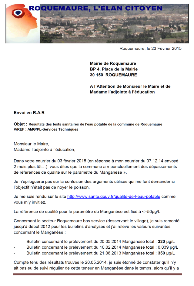 courrier RAR eau potable 23.02.15. page 1