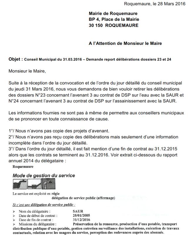 28.03.11 courrier demande annulation délib 23 et 24 page 1